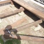 ウッドデッキ補修の写真