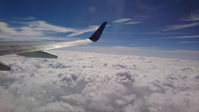 離陸後快晴の空